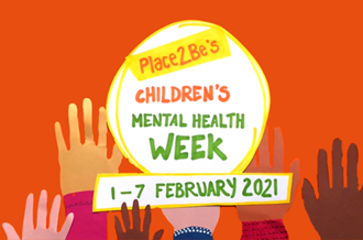 Drawing of Children's Mental Health Week logo with hands