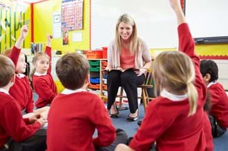 Counsellors in schools - teacher with children