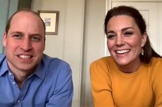 The Duke and Duchess of Cambridge video call