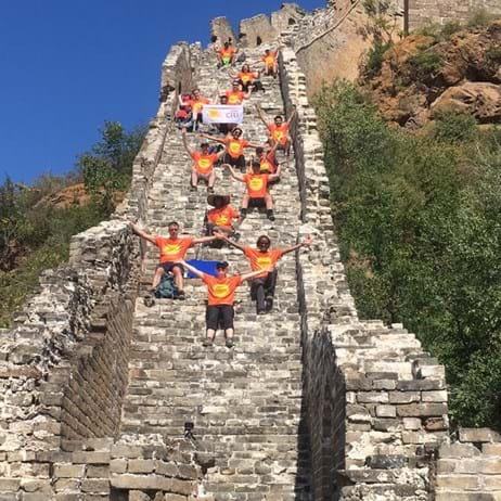 Place2Be supporters on walk at Great Wall of China