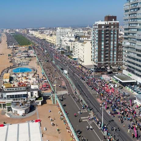 View of Brighton Marathon from above