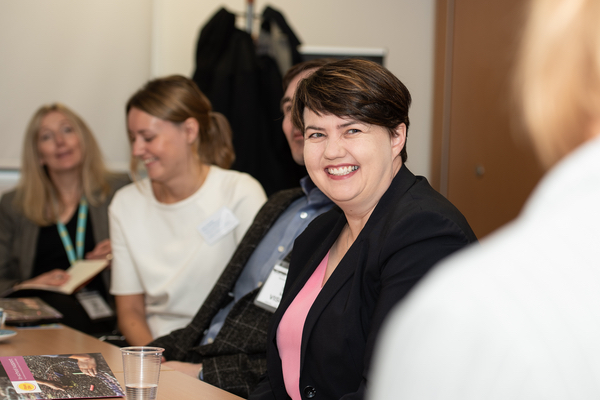 Ruth Davidson at school visit with Place2Be